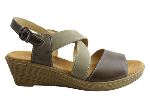 Cabello Comfort 3015 Womens Leather Sandals Made In Portugal