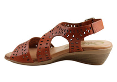 Cabello Comfort 3106 Womens Leather Sandals Made In Spain