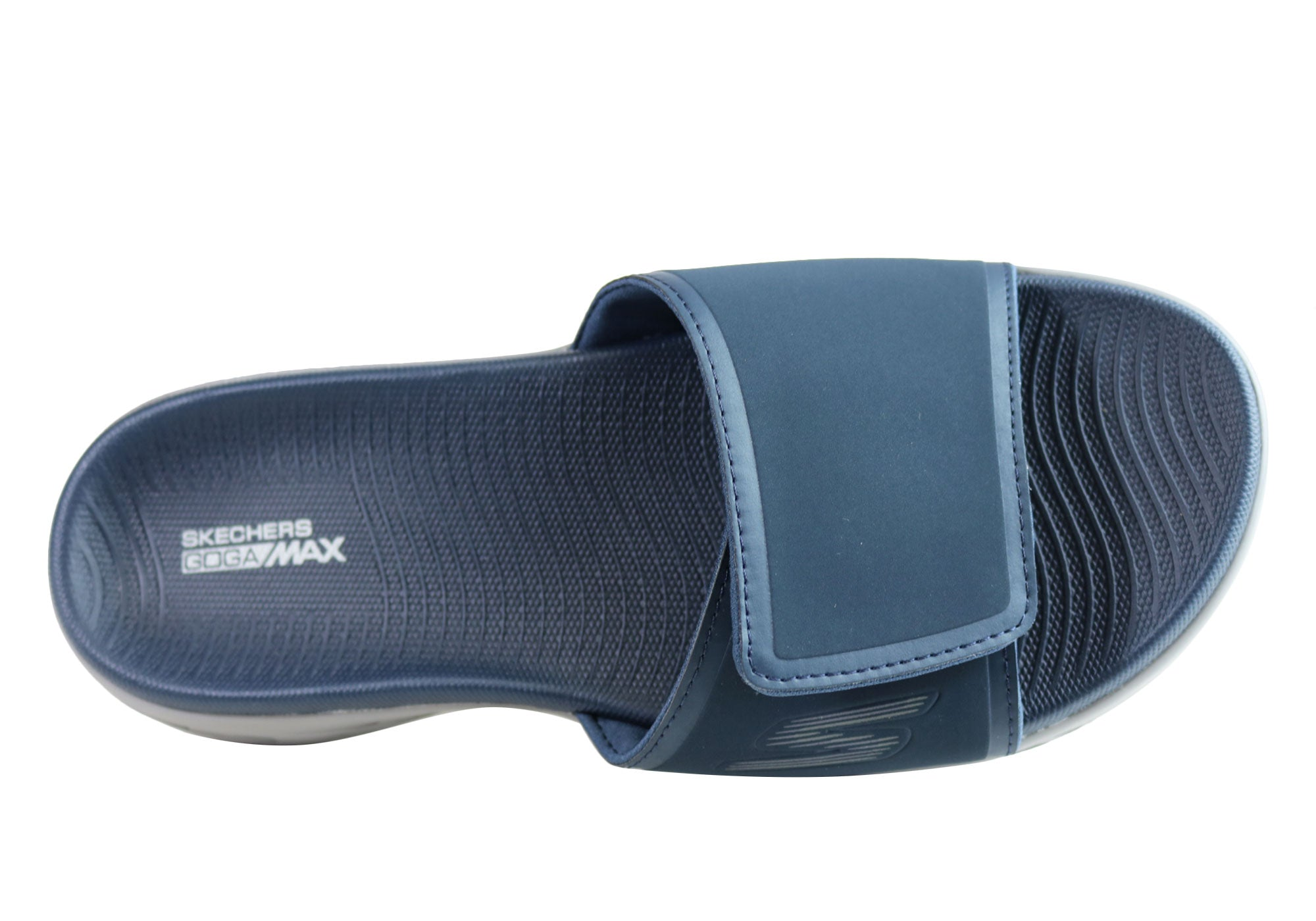 8d7ad8aa1222 NEW SKECHERS ON THE GO 600 REGAL MENS COMFORTABLE CUSHIONED SLIDE SANDALS