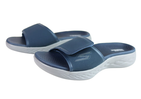 f8f6519528a8 Skechers On The Go 600 Regal Mens Comfortable Cushioned Slide Sandals