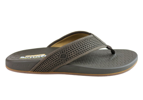 Skechers Pelem Emiro Mens Relaxed Fit Memory Foam Comfortable Thongs