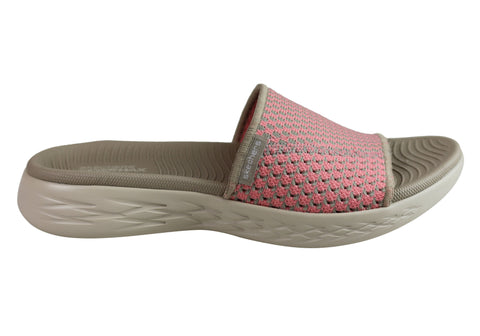 Skechers Womens On The Go 600 Nitto Cushioned Comfort Slide Sandals