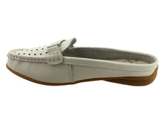Bellissimo Beaming Womens Leather Slip On Loafers
