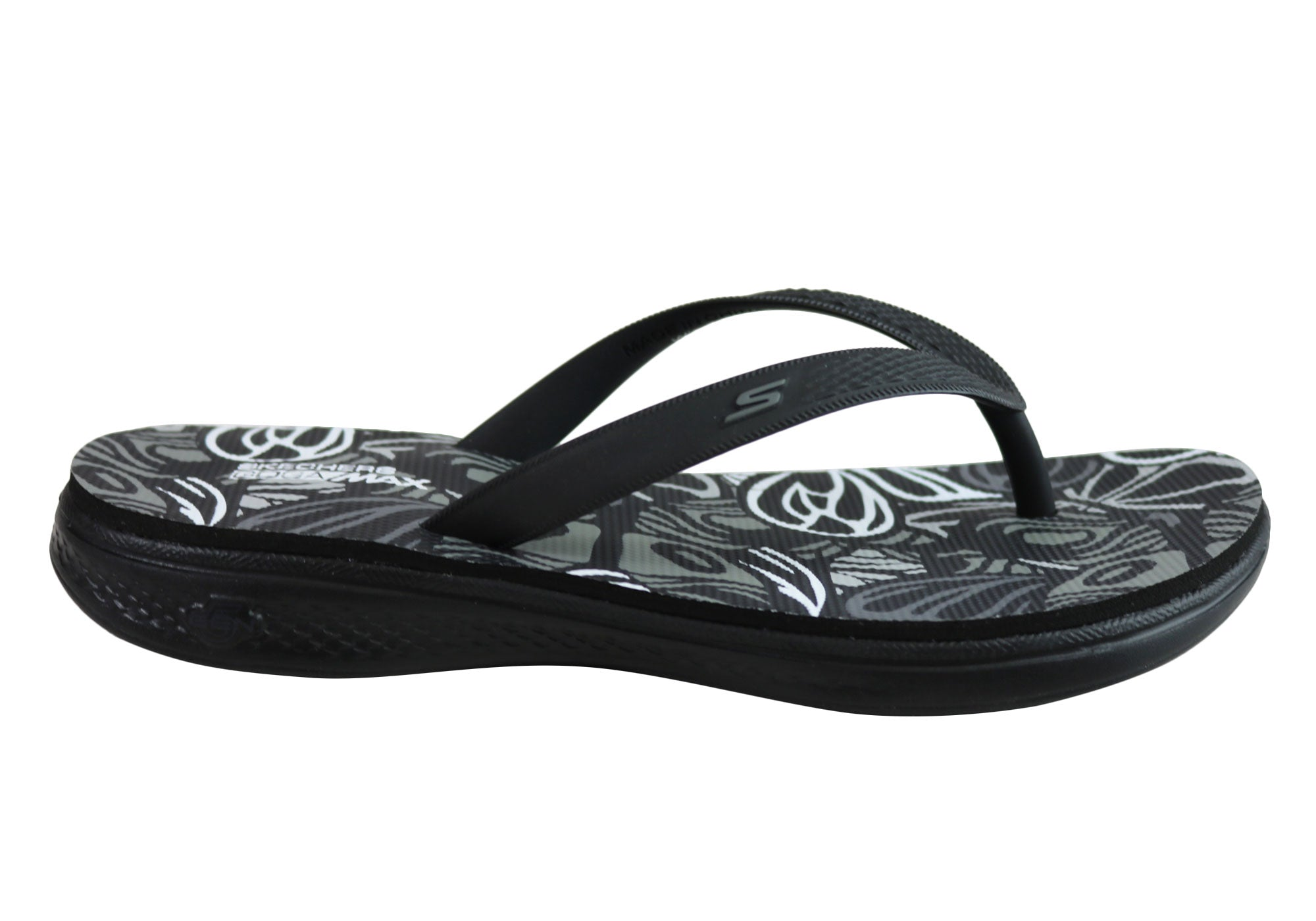 9709779bc0e6 Home Skechers Womens H2 Goga Lightweight Cushioned Comfort Fit Flops  Thongs. Black  ...