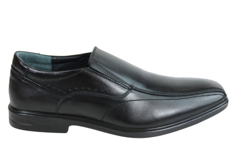 Scholl Orthaheel Albury Mens Leather Comfort Supportive Dress Shoes