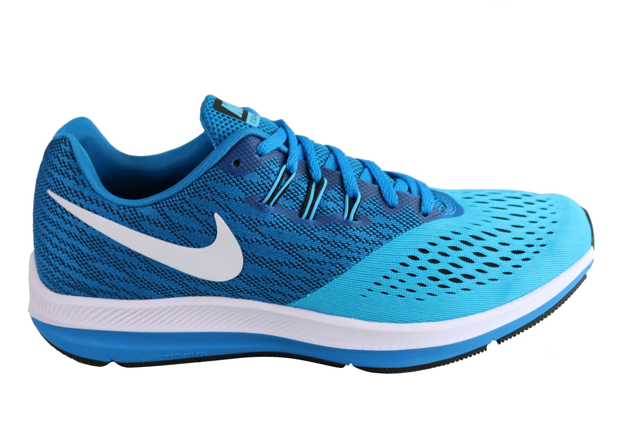 9014daf924bb Home Nike Zoom Winflo 4 Mens Comfortable Running Sport Shoes. Blue Orbit ...