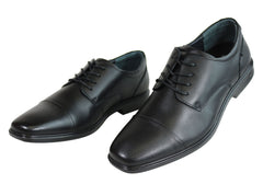 Scholl Orthaheel Ashton Mens Leather Comfort Supportive Dress Shoes