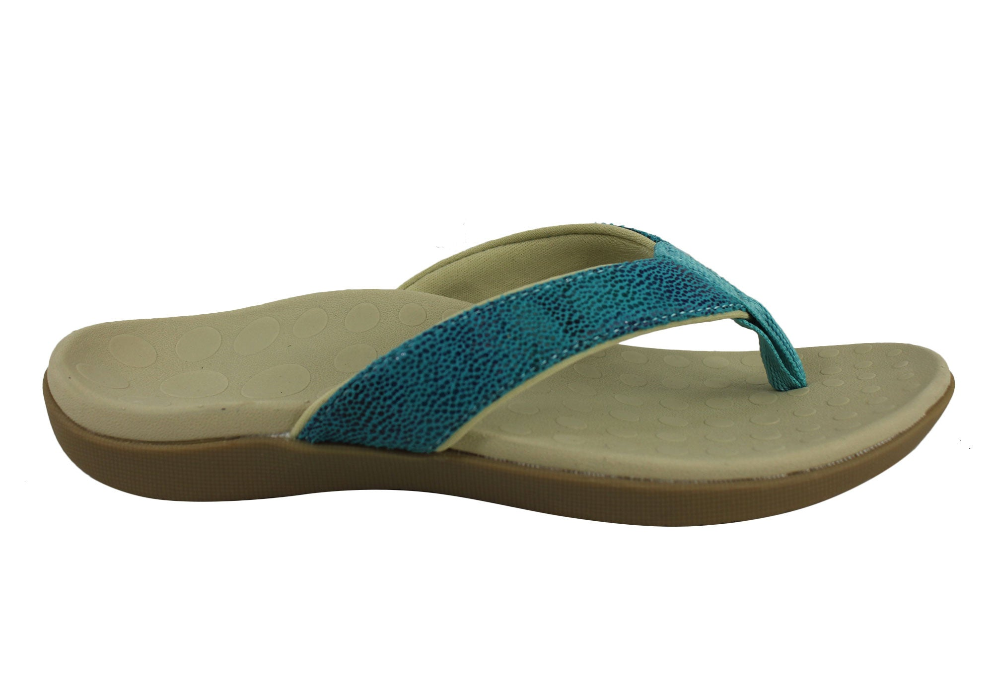 859317897c6 Home Scholl Orthaheel Sonoma II Womens Comfortable Supportive Thongs. Blue  Multi ...