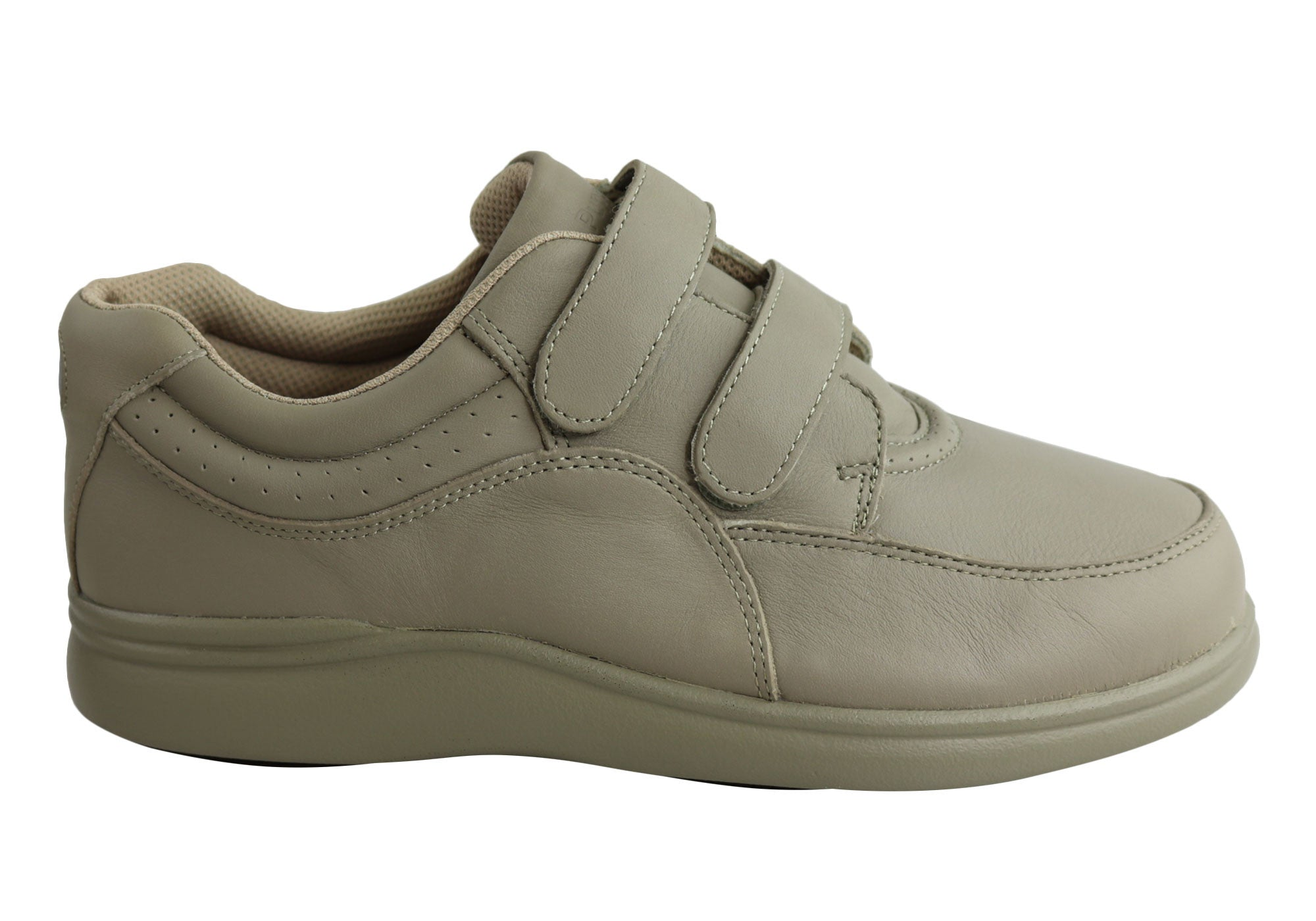 Hush Puppies Power Walker Ii Womens Leather Wide Velcro Shoes