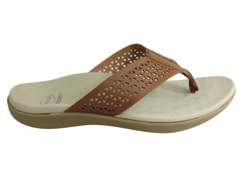 Scholl Orthaheel Splice Womens Comfort Supportive Thongs Flip Flops