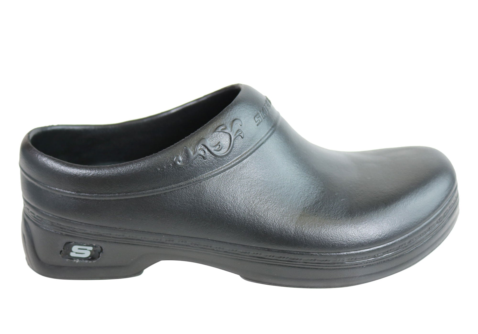 2e1250af7b92 Details about New Skechers Work Oswald Clara Comfortable Slip On Clog Shoes  Womens
