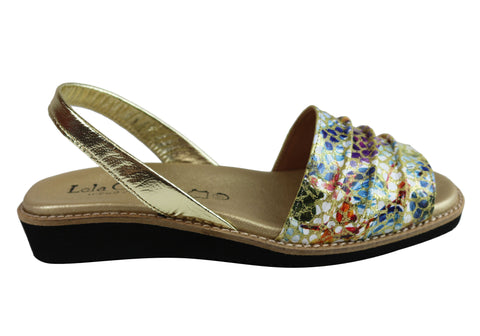 Lola Canales Aruba Womens Comfortable Leather Sandals Made In Spain