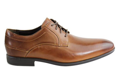 Rockport SC Plain Toe Leather Mens Lace Up Shoes