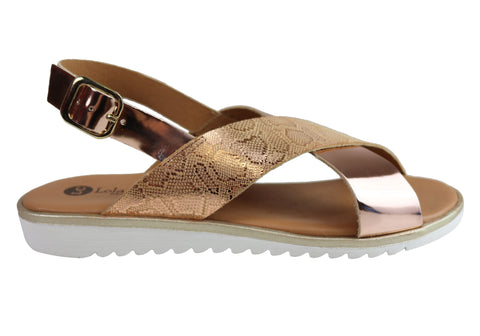 Lola Canales Gara Womens Comfortable Leather Sandals Made In Spain
