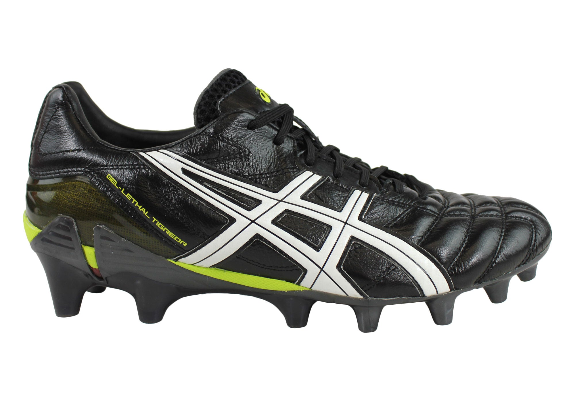 Asics Mens Lethal Tigeror 7 IT Leather Football Soccer Rugby Boots | Brand House Direct