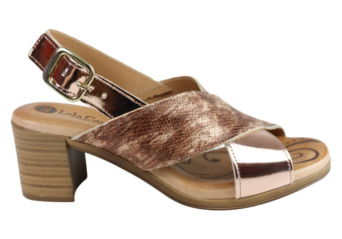 Lola Canales Rana Womens Comfortable Leather Sandals Made In Spain