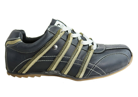 Wild Rhino Kaka Mens Leather Lace Up Casual Shoes