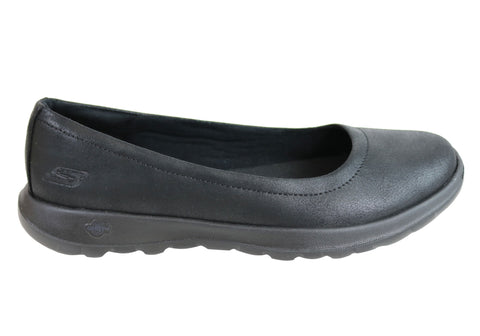 Skechers Womens Go Walk Lite Gem Comfort Cushioned Ballet Flat Shoes