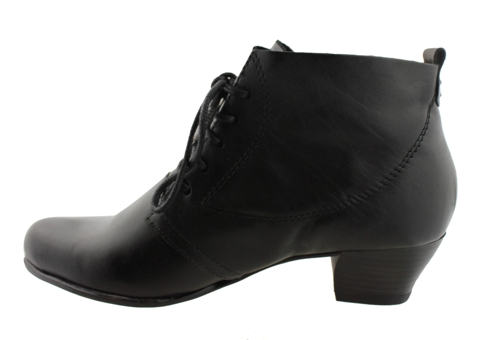 Gino Ventori Taurus Womens Leather Ankle Boots