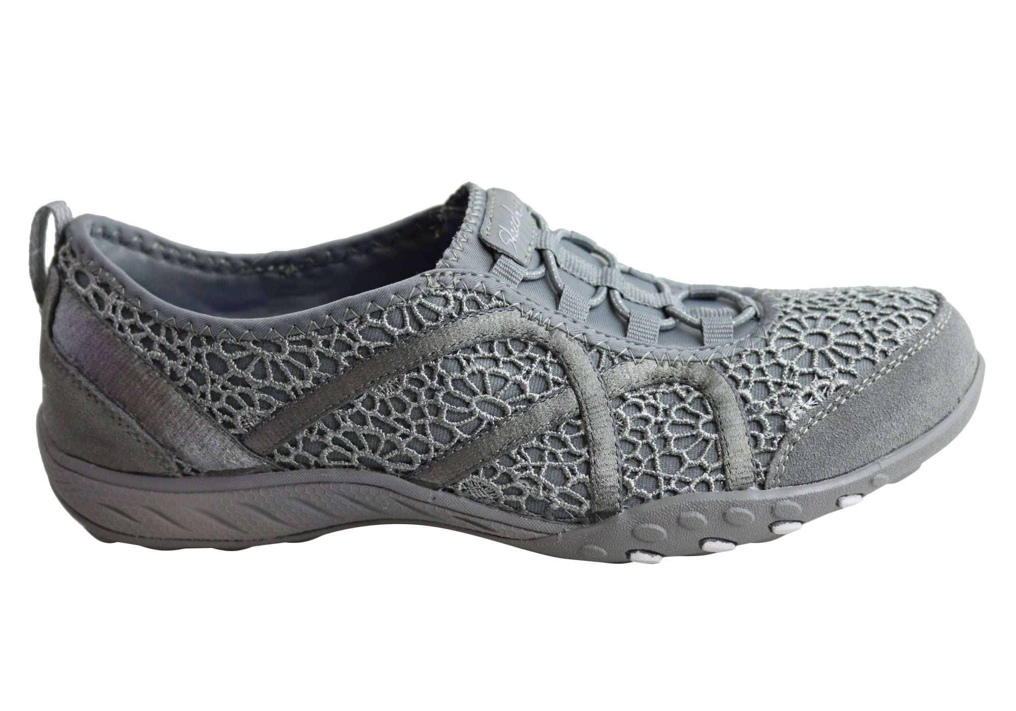 6e2bedf9073c Skechers 22527 Breathe Easy Meadows Grey Womens Shoes Casual ...