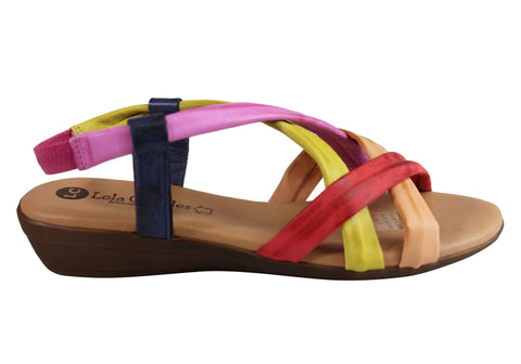 Lola Canales Enya Womens Comfortable Leather Sandals Made In Spain
