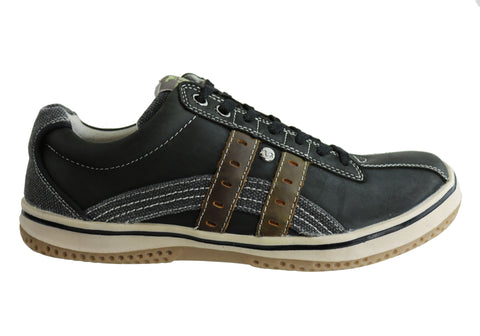 Wild Rhino Chase Mens Leather Lace Up Casual Shoes