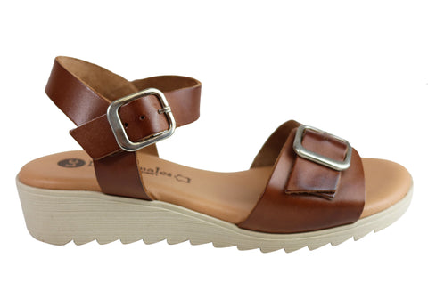 Lola Canales Koz Womens Comfortable Soft Leather Sandals Made In Spain