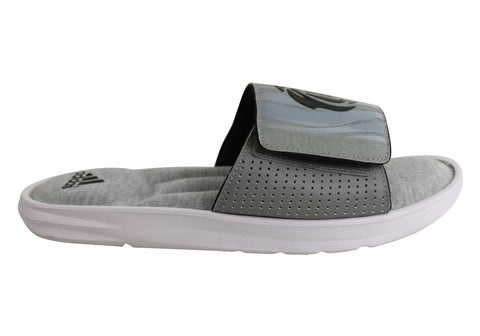 Adidas Mens Comfort D Rose Slides Cushioned Sports Slide