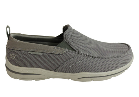 Skechers Mens Harper Walton Relaxed Fit Memory Foam Wide Fit Shoes