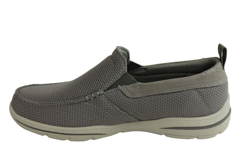 Skechers Mens Harper Walton Relaxed Fit Memory Foam Wide Fit