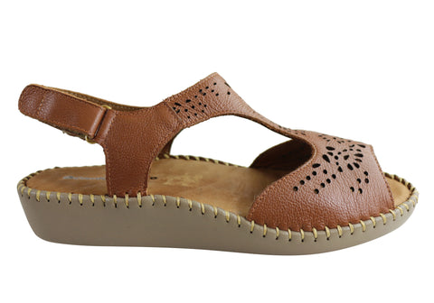 Comfortshoeco Maxine Womens Leather Brazilian Comfortable Sandals