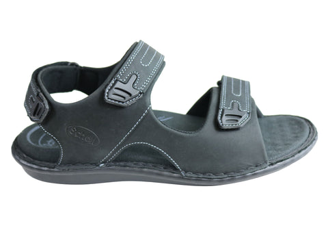 Scholl Orthaheel Joey Mens Comfortable Supportive Adjustable Sandals