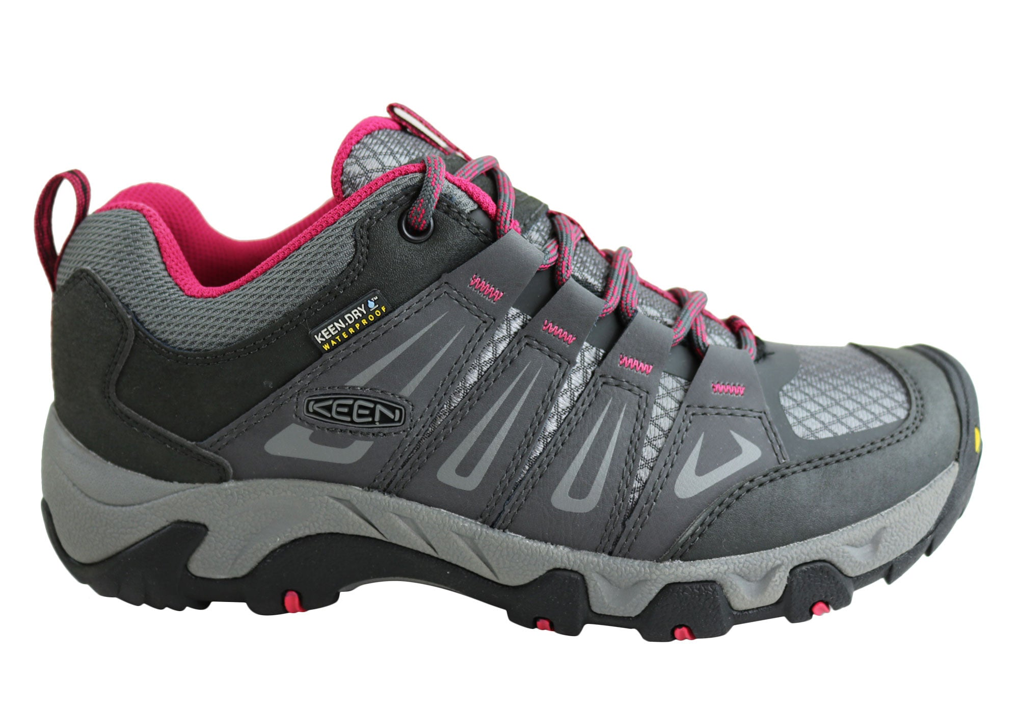 8af2af430f5 Keen Oakridge Waterproof Womens Wide Fit Hiking Shoes