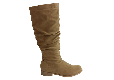 Isabella Brown Sweet Womens Comfortable Flat Knee High Fashion Boots