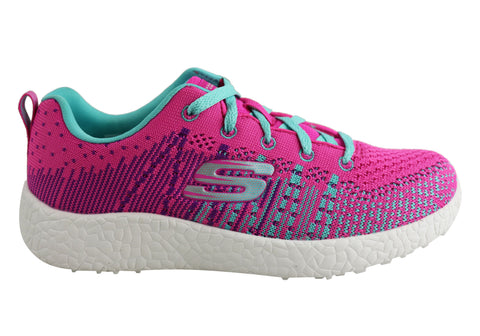 Skechers Burst Ellipse Kids Girls Sport Shoes
