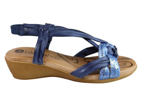 Lola Canales Amy Womens Comfortable Leather Sandals Made In Spain