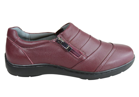 Scholl Orthaheel Wenona Womens Supportive Comfortable Leather Shoes