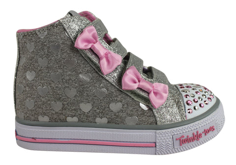 Skechers Twinkle Toes S Lights Shuffles Doodle Days Infant Sneakers