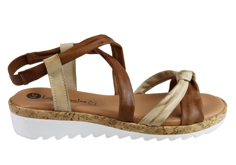 Lola Canales Bel Womens Comfortable Soft Leather Sandals Made In Spain