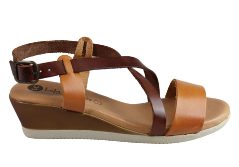 Lola Canales Ela Womens Comfortable Soft Leather Sandals Made In Spain