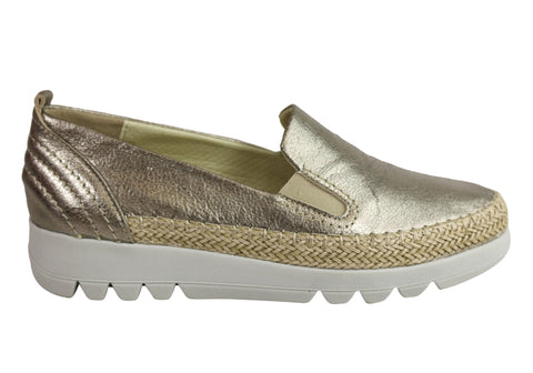 Flex & Go Tagus Womens Comfort Flexible Leather Flats Made In Portugal