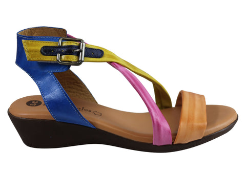 Lola Canales Aska Womens Comfortable Leather Sandals Made In Spain