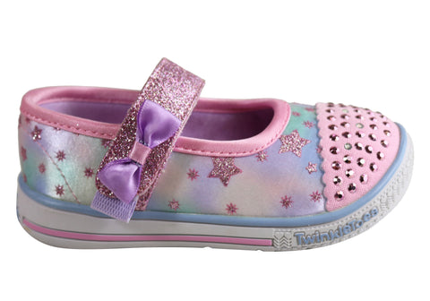 Skechers Infant Girls S Lights Twinkle Play Starry Sparks Shoes