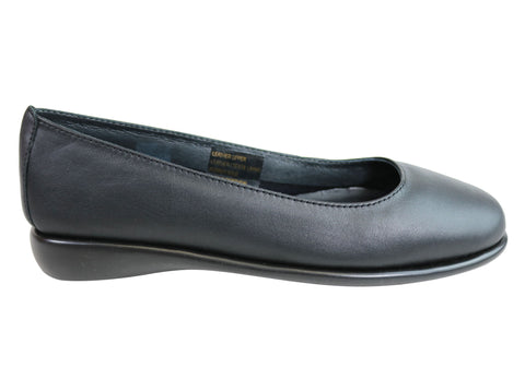 Flex & Go Sienna Womens Comfort Leather Ballet Flats Made In Portugal