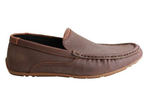 Slatters Randall Mens Leather Casual Comfort Loafers