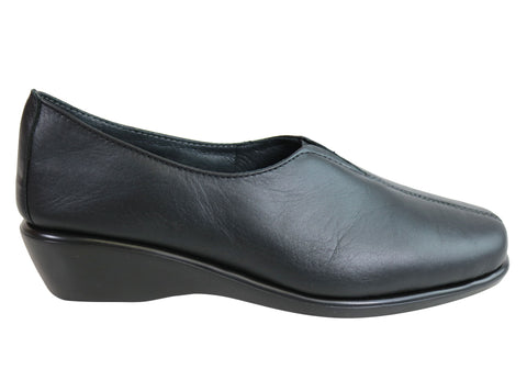 Flex & Go Eleanor Womens Comfortable Leather Shoes Made In Portugal