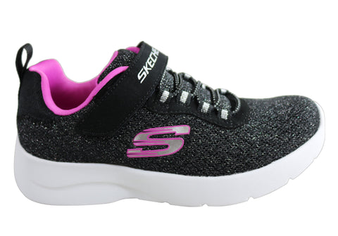 Skechers Dynamight 2.0 Tried N True Kids Girls Slip On Athletic Shoes