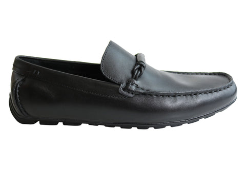 Slatters Dixon Mens Leather Comfortable Loafers