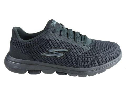 Skechers Womens Go Walk 5 Lucky Wide Fit Machine Washable Shoes