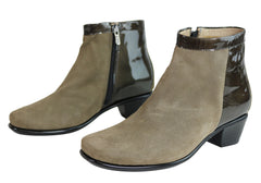 Flex & Go Womens Comfort Low Heel Ankle Boots Made In Portugal